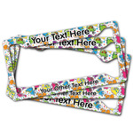 Dinosaur Print & Dots License Plate Frame (Personalized)