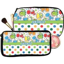 Dinosaur Print & Dots Makeup / Cosmetic Bag (Personalized)