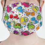 Dinosaur Print & Dots Face Mask Cover (Personalized)