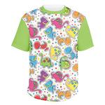 Dinosaur Print & Dots Men's Crew T-Shirt (Personalized)