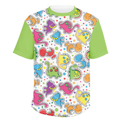 Dinosaur Print & Dots Men's Crew T-Shirt (Personalized)