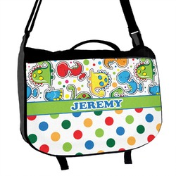 Dinosaur Print & Dots Messenger Bag (Personalized)