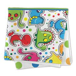 Dinosaur Print & Dots Large Microfiber Dish Rag (Personalized)