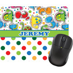 Dinosaur Print & Dots Mouse Pad (Personalized)