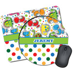 Dinosaur Print & Dots Mouse Pads (Personalized)