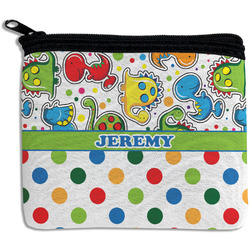 Dinosaur Print & Dots Rectangular Coin Purse (Personalized)