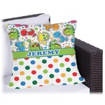 Dinosaur Print & Dots Outdoor Pillow (Personalized)