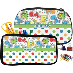 Dinosaur Print & Dots Pencil / School Supplies Bag (Personalized)