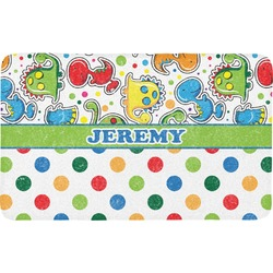 Dinosaur Print & Dots Bath Mat (Personalized)
