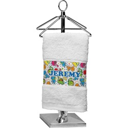 Dinosaur Print & Dots Finger Tip Towel (Personalized)