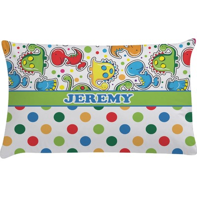 Dinosaur Print & Dots Pillow Case (Personalized)