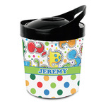 Dinosaur Print & Dots Plastic Ice Bucket (Personalized)