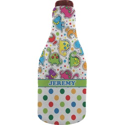 Dinosaur Print & Dots Wine Sleeve (Personalized)