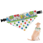 Dinosaur Print & Dots Dog Bandana (Personalized)