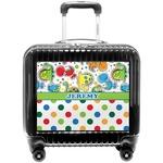 Dinosaur Print & Dots Pilot / Flight Suitcase (Personalized)