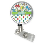 Dinosaur Print & Dots Retractable Badge Reel (Personalized)