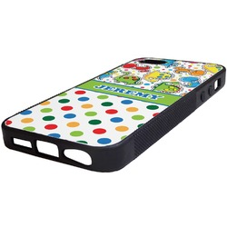 Dinosaur Print & Dots Rubber iPhone 5/5S Phone Case (Personalized)