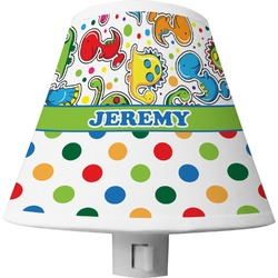 Dinosaur Print & Dots Shade Night Light (Personalized)