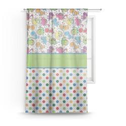 Dinosaur Print & Dots Sheer Curtains (Personalized)