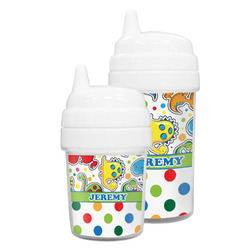 Dinosaur Print & Dots Sippy Cup (Personalized)