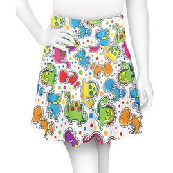 Dinosaur Print & Dots Skater Skirt (Personalized)