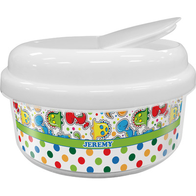 Dinosaur Print & Dots Snack Container (Personalized)