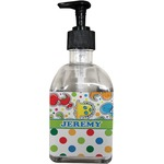 Dinosaur Print & Dots Soap/Lotion Dispenser (Glass) (Personalized)
