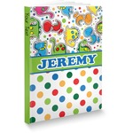 Dinosaur Print & Dots Softbound Notebook (Personalized)