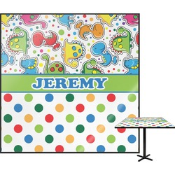 Dinosaur Print & Dots Square Table Top (Personalized)