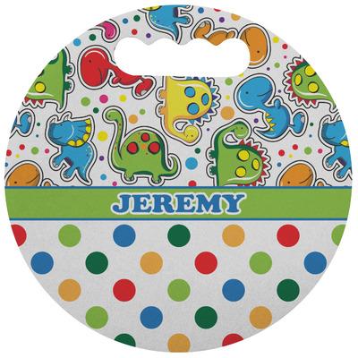 Dinosaur Print & Dots Stadium Cushion (Round) (Personalized)