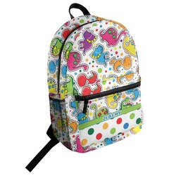 Dinosaur Print & Dots Student Backpack (Personalized)