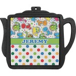Dinosaur Print & Dots Teapot Trivet (Personalized)