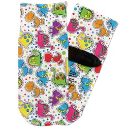 Dinosaur Print & Dots Toddler Ankle Socks (Personalized)