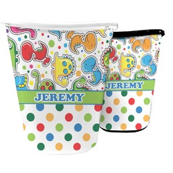 Dinosaur Print & Dots Waste Basket (Personalized)