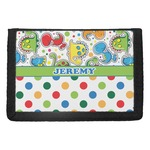Dinosaur Print & Dots Trifold Wallet (Personalized)