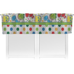 Dinosaur Print & Dots Valance (Personalized)