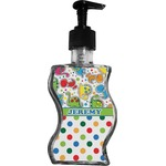 Dinosaur Print & Dots Wave Bottle Soap / Lotion Dispenser (Personalized)