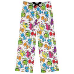 Dinosaur Print & Dots Womens Pajama Pants (Personalized)