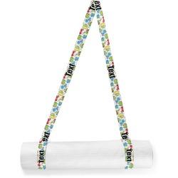 Dinosaur Print & Dots Yoga Mat Strap (Personalized)