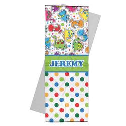 Dinosaur Print & Dots Yoga Mat Towel (Personalized)