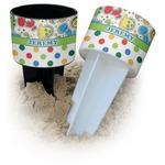 Dinosaur Print & Dots Beach Spiker Drink Holder (Personalized)