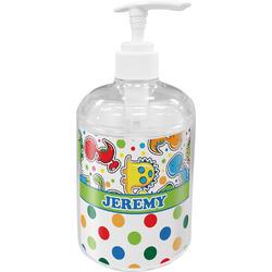 Dinosaur Print & Dots Acrylic Soap & Lotion Bottle (Personalized)