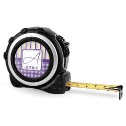 Purple Gingham & Stripe Tape Measure - 16 Ft (Personalized)
