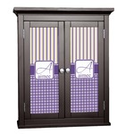 Purple Gingham & Stripe Cabinet Decal - Custom Size (Personalized)