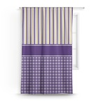 Purple Gingham & Stripe Curtain (Personalized)
