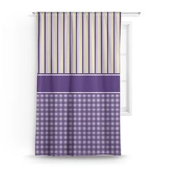 Purple Gingham & Stripe Curtain (Personalized)