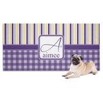 Purple Gingham & Stripe Pet Towel (Personalized)