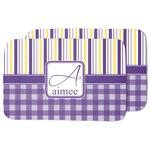 Purple Gingham & Stripe Dish Drying Mat (Personalized)