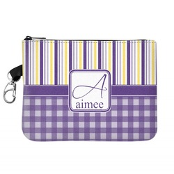 Purple Gingham & Stripe Golf Accessories Bag (Personalized)