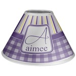 Purple Gingham & Stripe Coolie Lamp Shade (Personalized)